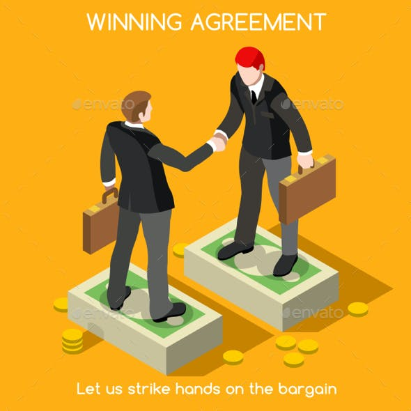Handshake 02 People Isometric