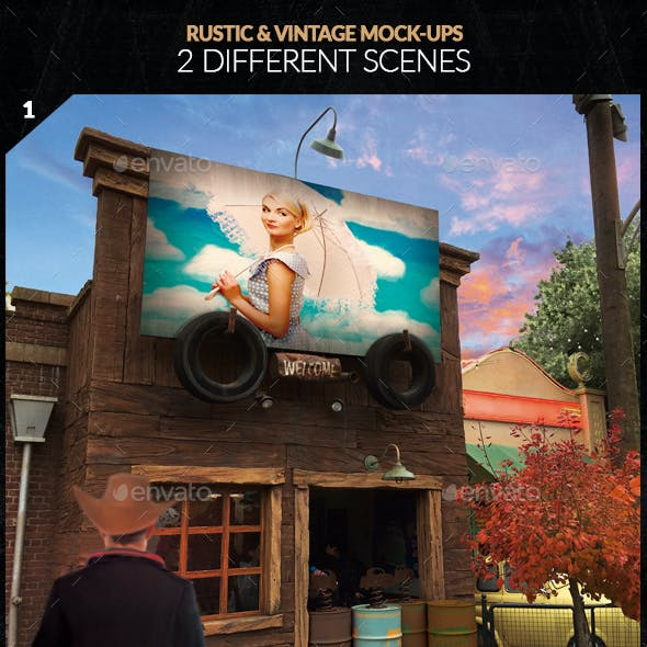 Rustic & Vintage Mock-Ups