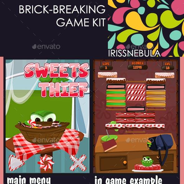 Brick Breaking Game Kit. Sweets Thief