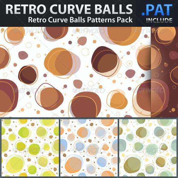 Retro Curve Balls Patterns