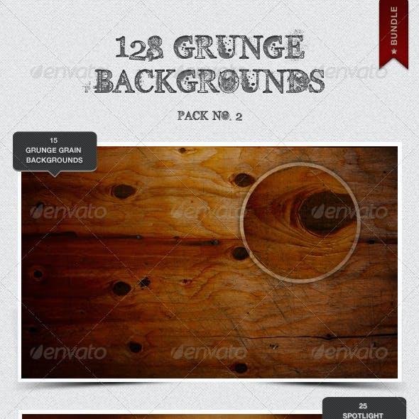 128 Grunge Backgrounds - Bundle Pack 2