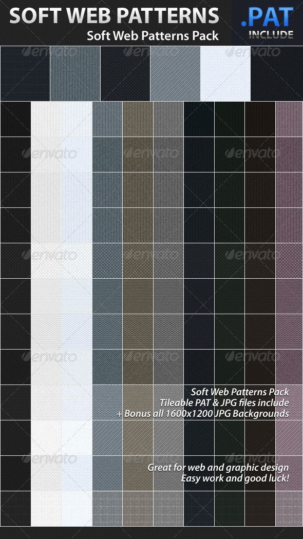 Soft Web Patterns - Fabric Textures