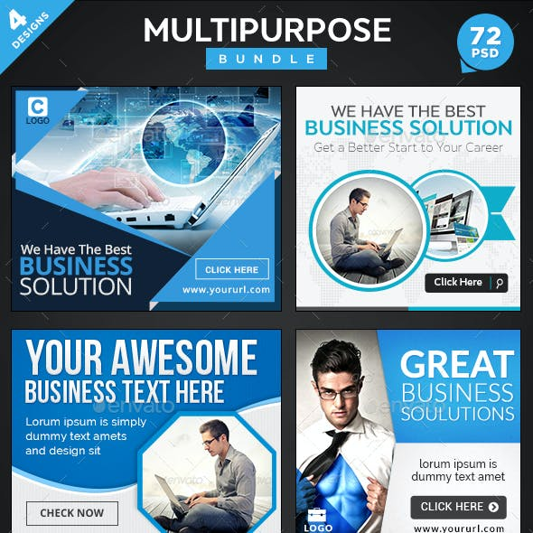 Multipurpose Banners Bundle - 4 Sets - 72 Banners
