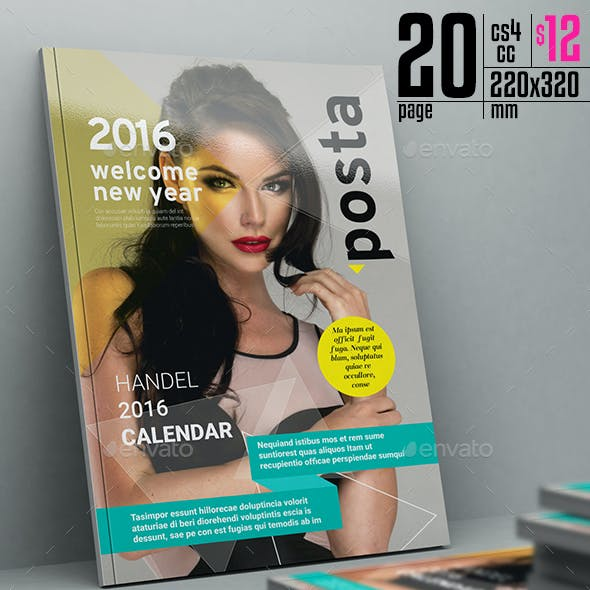 Posta Magazine Template 20 Pages