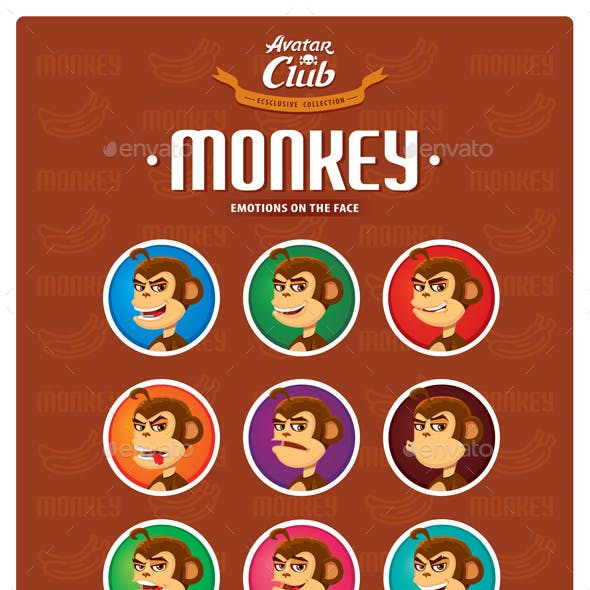 Monkey Avatar Emotions on the Face