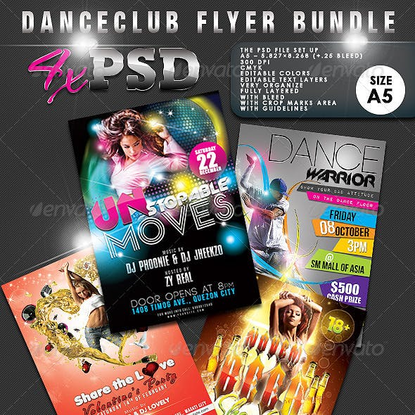 Dance Club Flyer Bundle #01