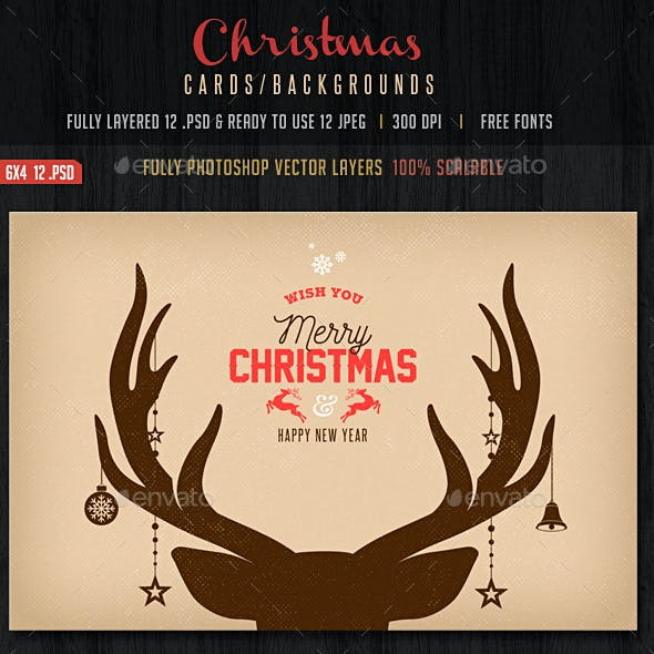 Vintage Christmas Backgrounds / Cards