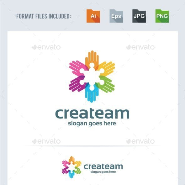 Creative Crowd - Hands Logo Template