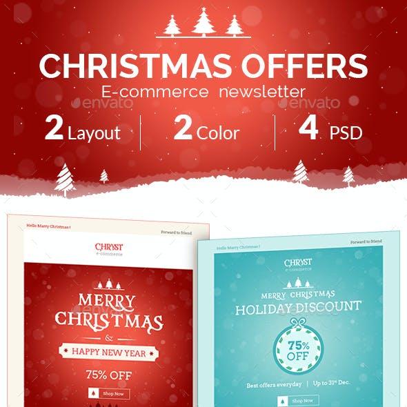 Christmas Shopping Offers | e-Commerce Newsletter
