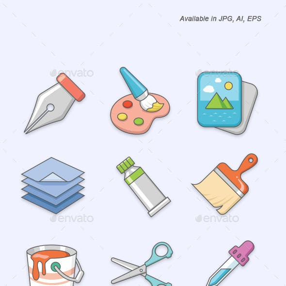 Art vector icons