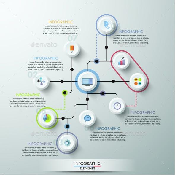 Modern Infographics Circle Template