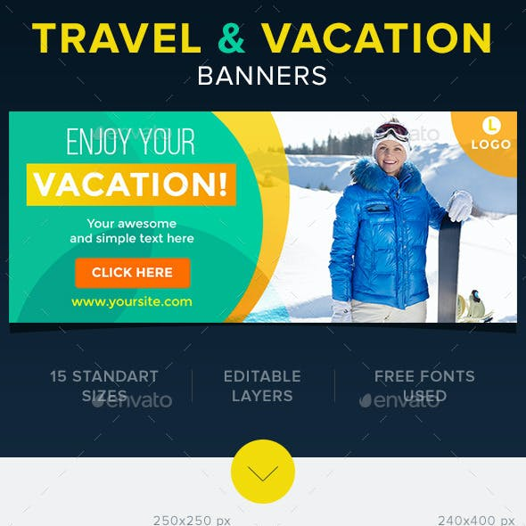 Travel & Vacation Banners