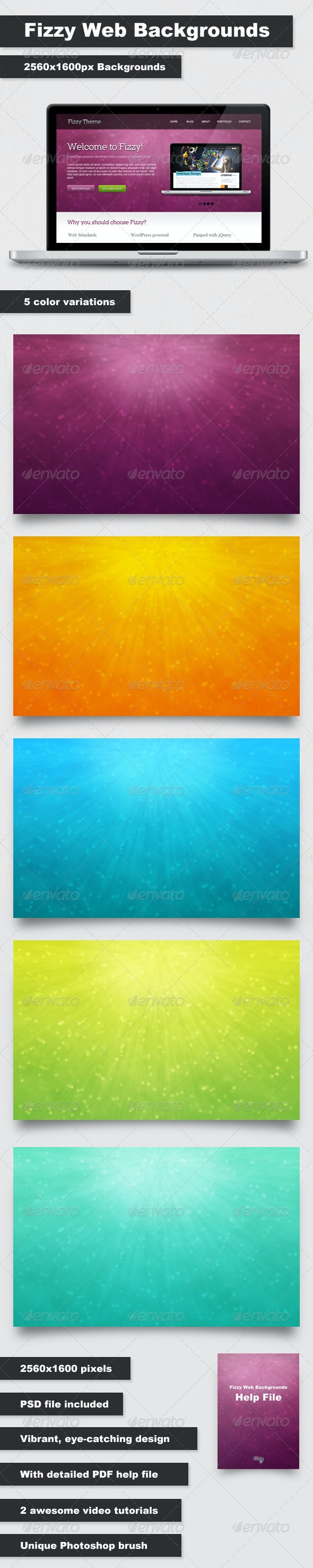 Fizzy Web Backgrounds - Abstract Backgrounds
