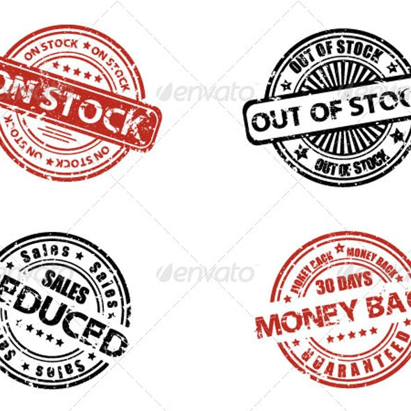 Grunge stock labels