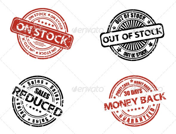 Grunge stock labels - Commercial / Shopping Conceptual
