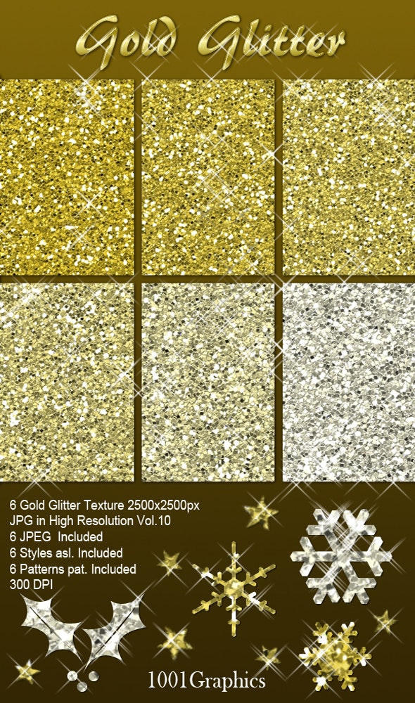 Gold Glitter Pack - Photoshop Add-ons