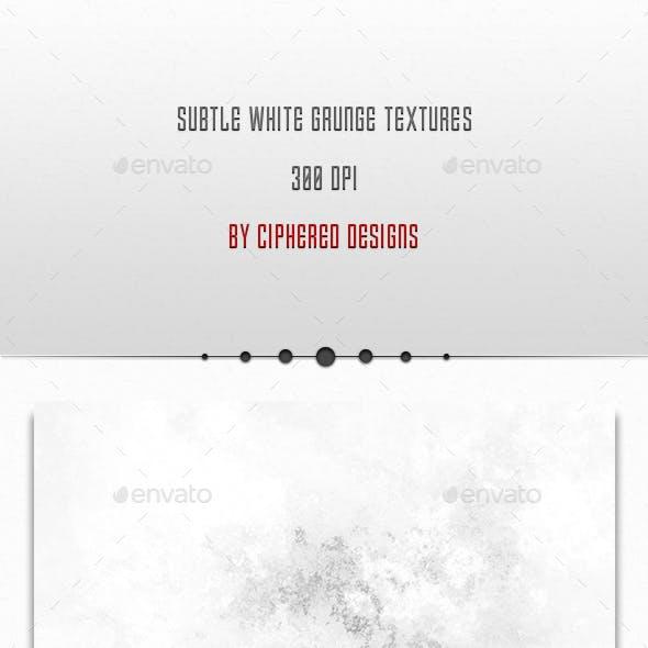 Subtle White Grunge Textures