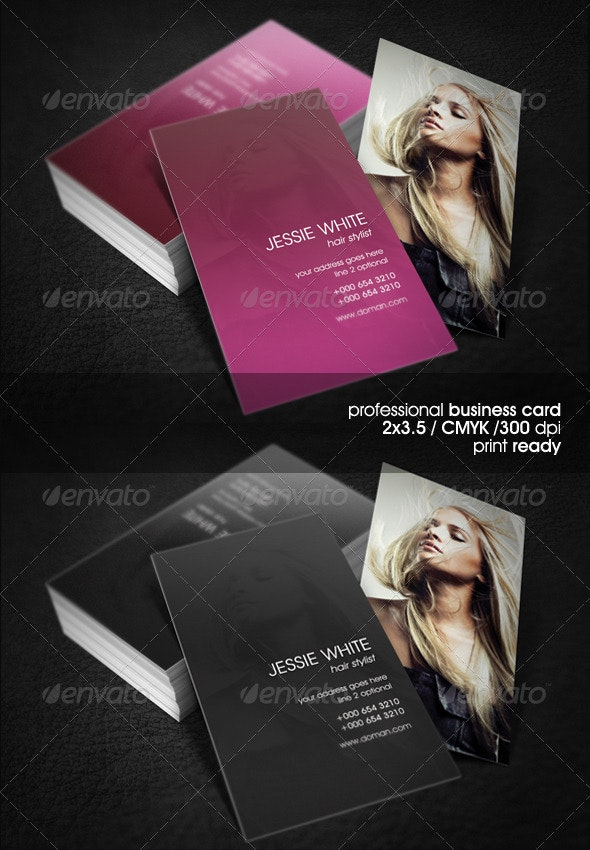 Hair Dresser Business Card - Industry Specific Business Cards