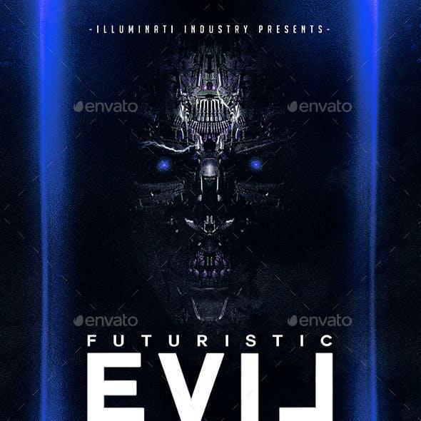 Futuristic Evil   Dark Modern Flyer PSD Template
