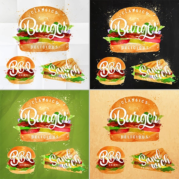 Fast Food Burgers - Food Objects