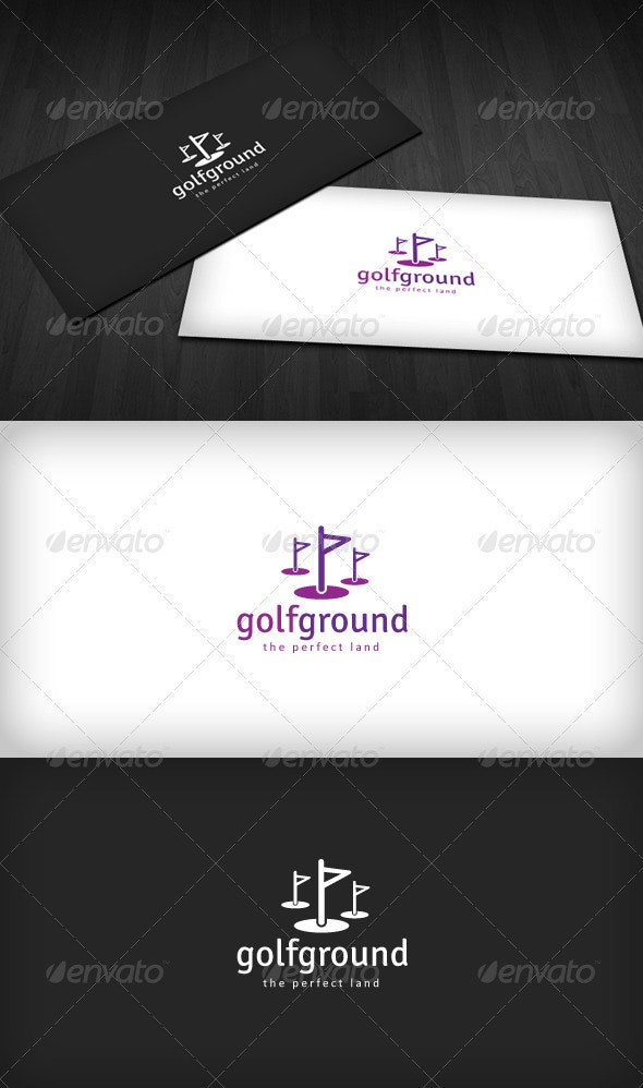 Golf Ground Logo - Vector Abstract