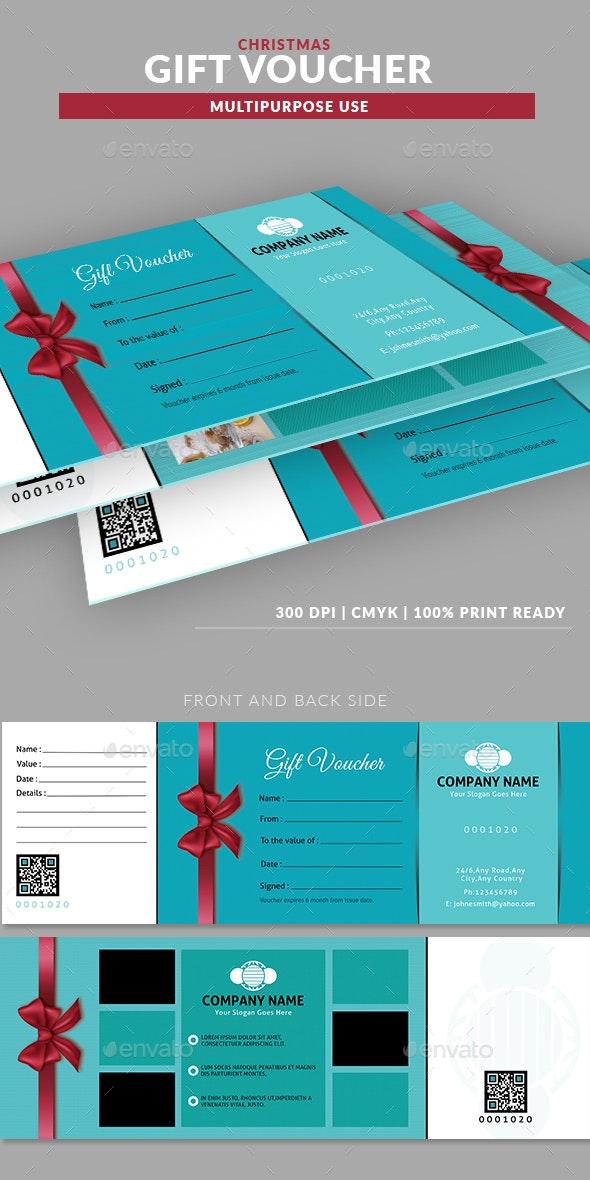 Christmas Multipurpose Gift Voucher Template - Miscellaneous Print Templates