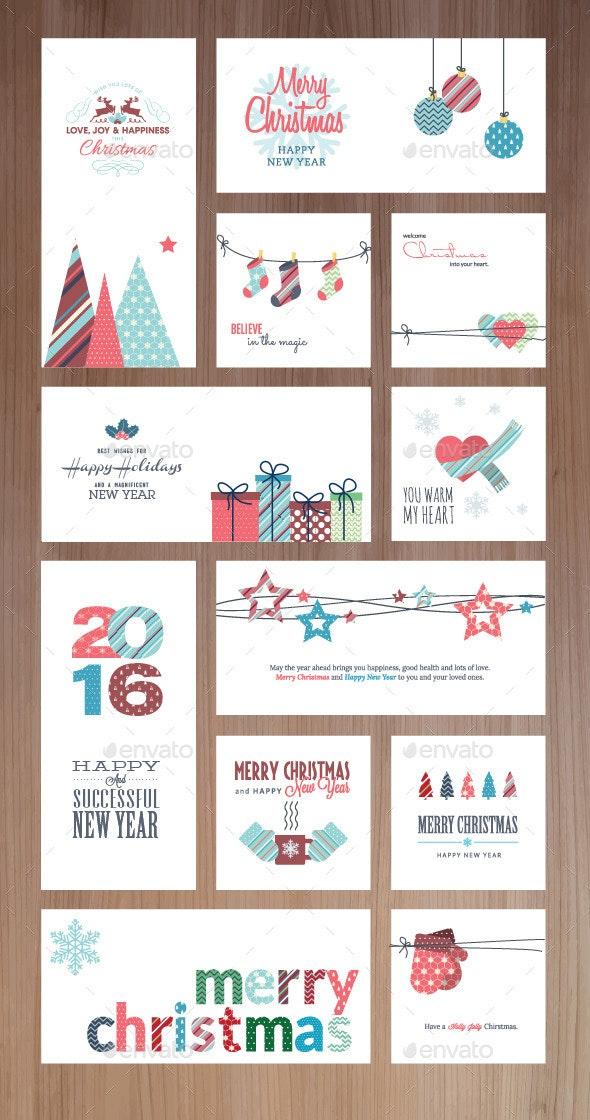 Christmas and New Year Greeting Cards and Banners - Christmas Seasons/Holidays
