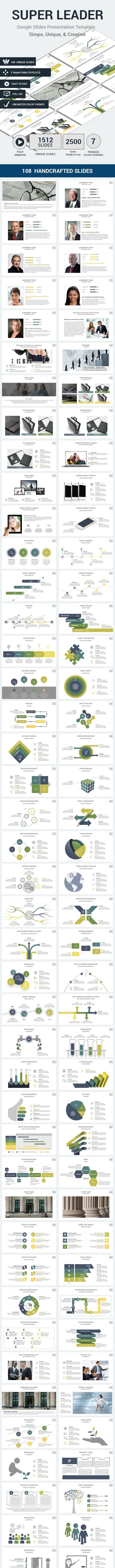 Super Leader Google Slides Presentation Template - Google Slides Presentation Templates