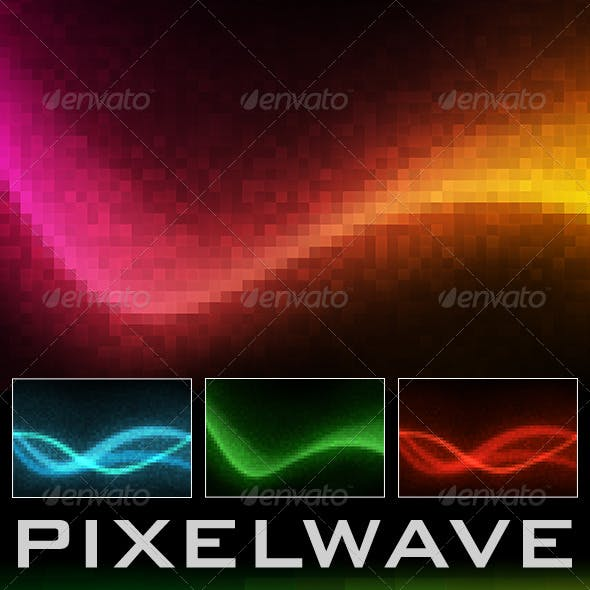 Pixel Wave - Abstract Backgrounds