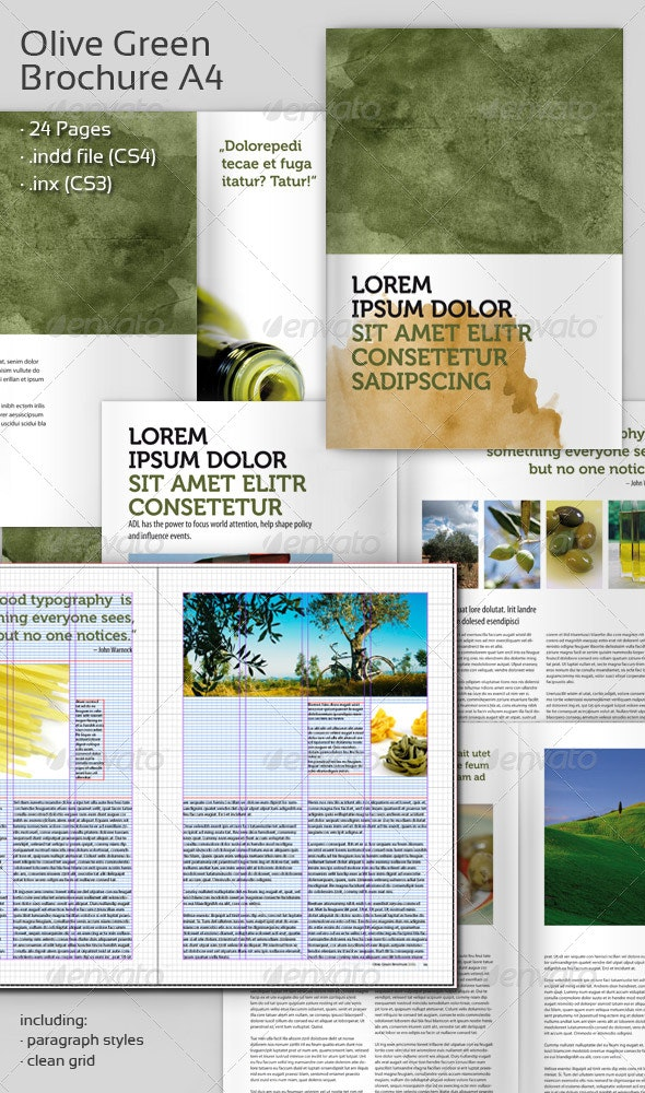 Olive Green Brochure A4 - Corporate Brochures