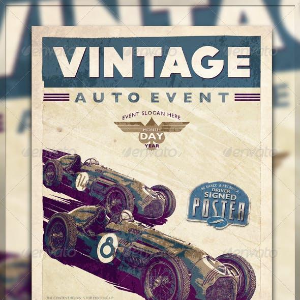 Vintage Race Flyer