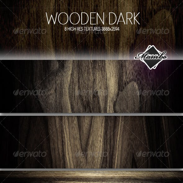 Wooden Dark - Wood background textures