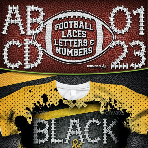 Football Letters & Numbers Set