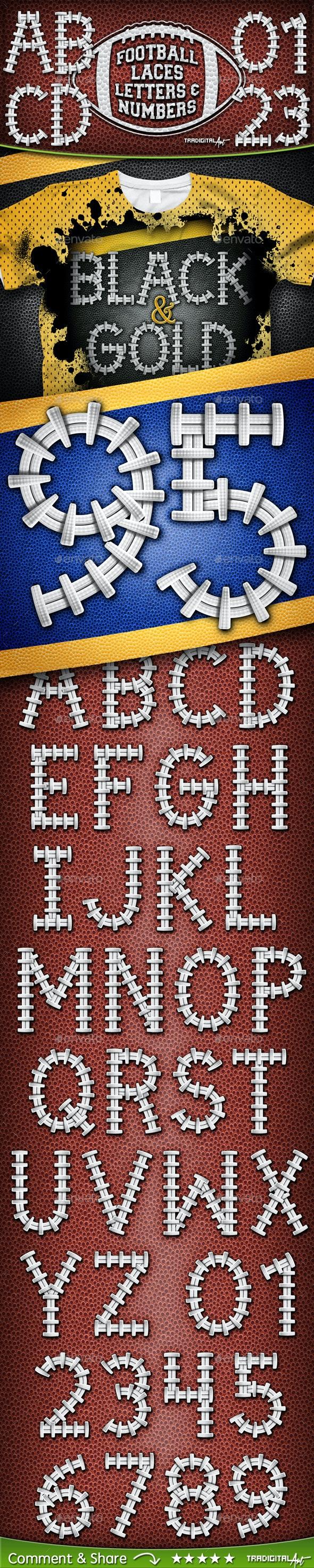 Football Letters & Numbers Set - Decorative Symbols Decorative