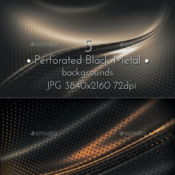 Perforated Black Metal Surface