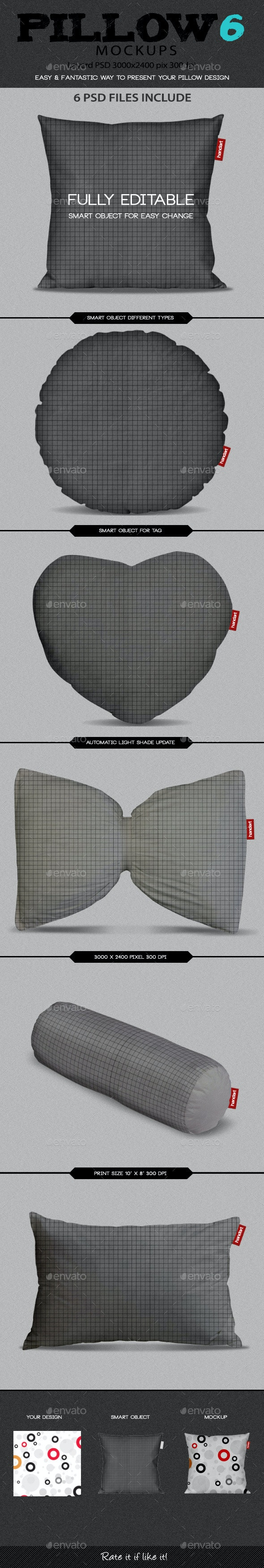 Pillow6 Mockup - Miscellaneous Print