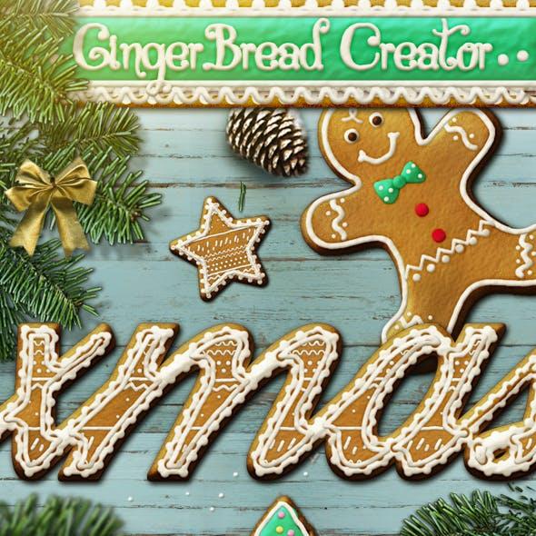Gingerbread Christmas Style Photoshop Creator
