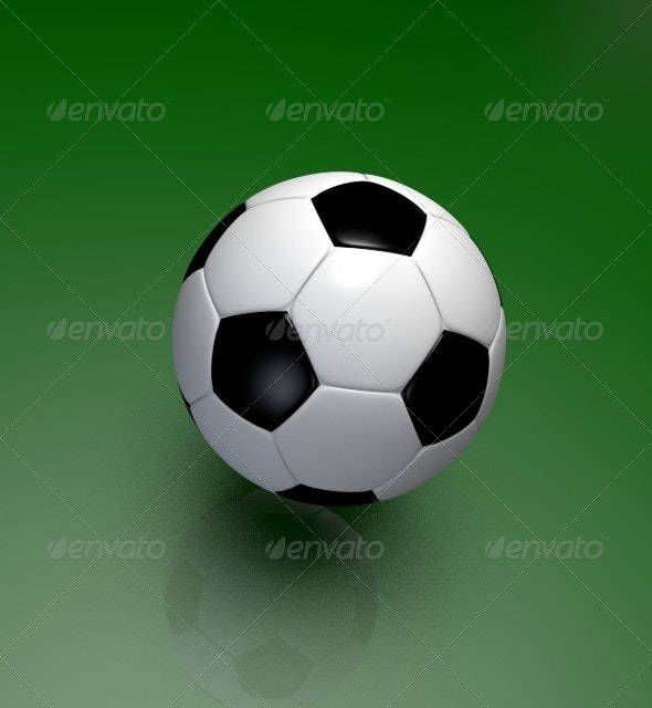 3D Model of Soccer Ball - 3D Backgrounds