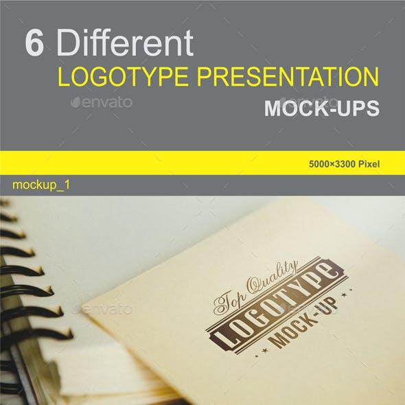 6 Different Logotype Mock-Ups