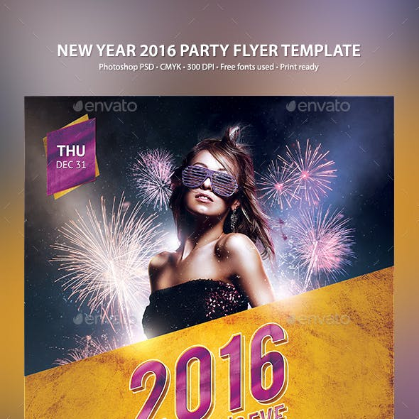 New Year 2016 Party Flyer Template