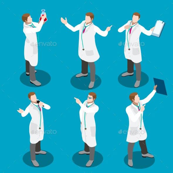 Hospital 17 People Isometric
