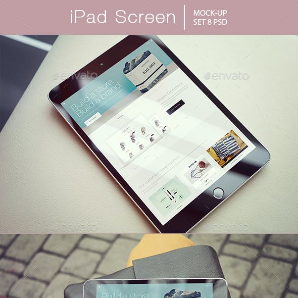 iPad Screen Mockup