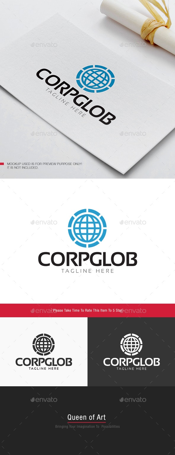 Corp Glob Logo - Objects Logo Templates