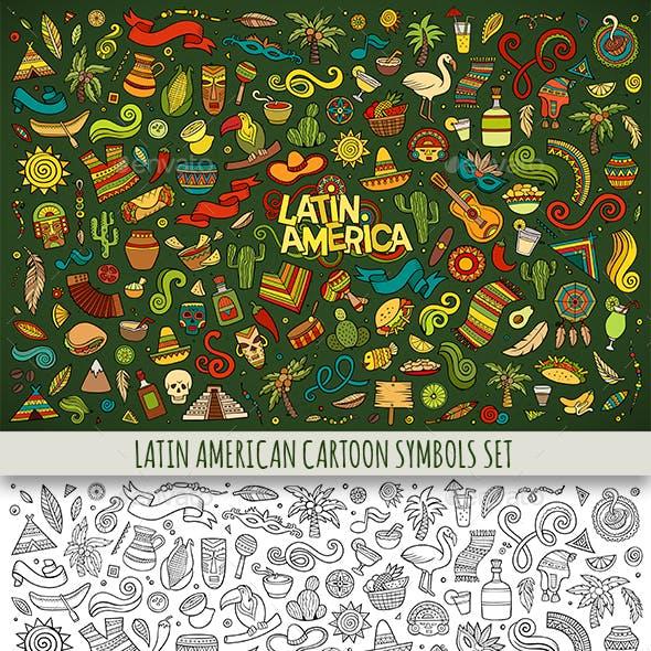Latin American Doodles Symbols & Objects