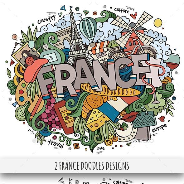 France Doodles Designs