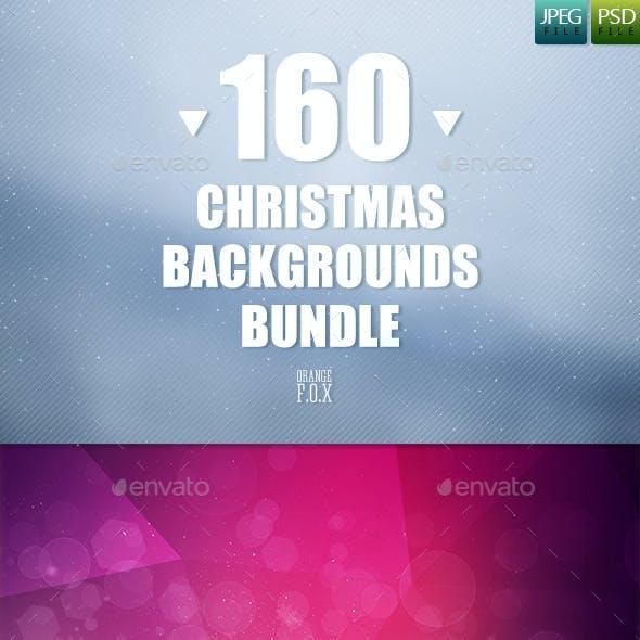 160 Christmas Backgrounds Bundle