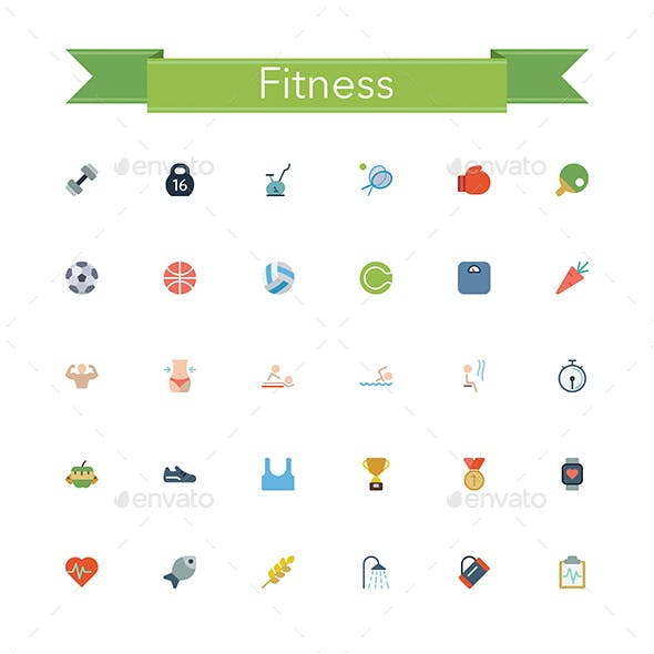 Fitness Flat Icons