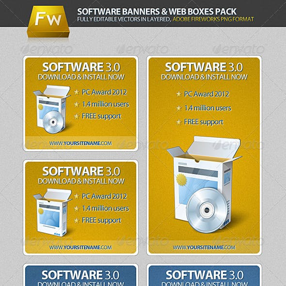 Software Banners & Web Boxes Pack