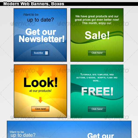 Modern Web Banners Boxes