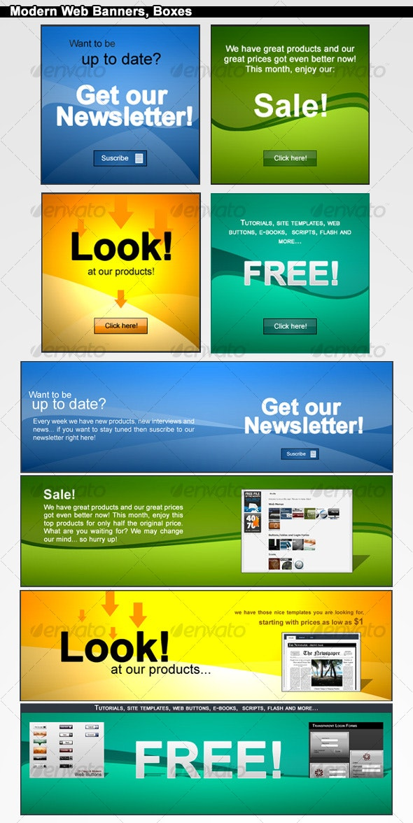 Modern Web Banners Boxes - Web Elements